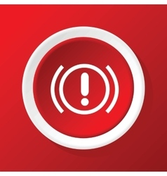 Alert icon on red vector