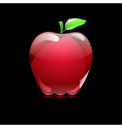 Big red apple from glass vector
