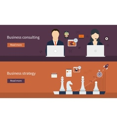 Icons for business strategy vector