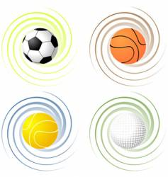 Twisted sport balls vector