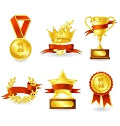 Trophy and prize emblem vector