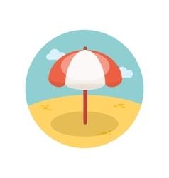Beach parasol flat icon vector