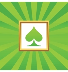 Spades picture icon vector