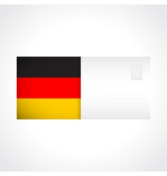 Envelope with german flag card vector