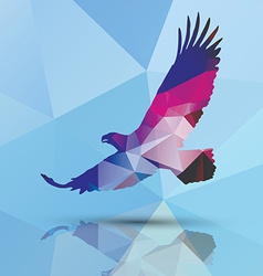 Geometric polygonal eagle pattern design vector