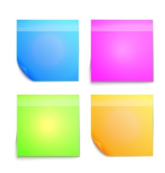 Colorful sticky note vector