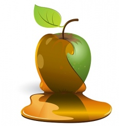 Apple and caramel vector