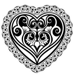 Valentines day tatto heart vector