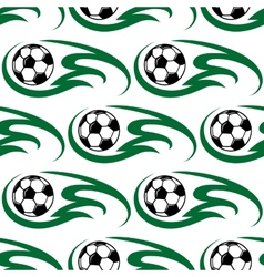 Soccer ball seamless pattern vector