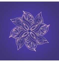 Abstract floral pattern against purple background vector