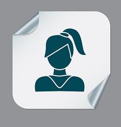 A female avatar girl with hair tail avatar of a vector