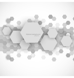 Abstract blue hexagons background vector