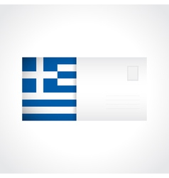 Envelope with greek flag card vector