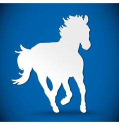Greeting card with silhouette horse vector