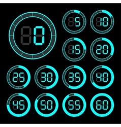 Set of icons stopwatch vector