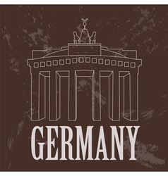 Germany landmarks retro styled image vector