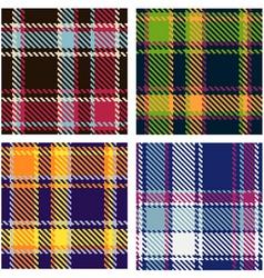 Tartan patterns vector
