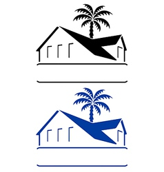 Bungalow sign vector
