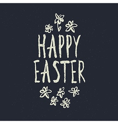 Easter grunge calligraphic design vector