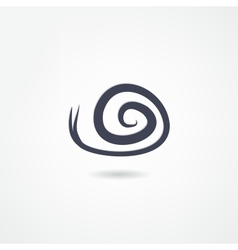 Snail icon vector