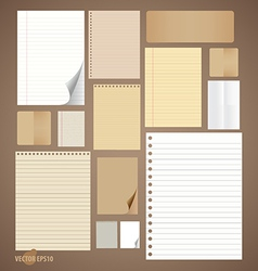Collection of various vintage paper designs paper vector