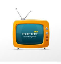 Orange retro tv vector