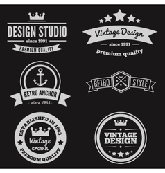 Retro vintage insignias or logotypes set vector