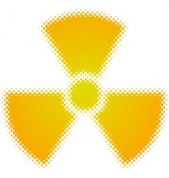 Radioactive symbol vector