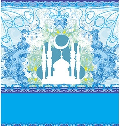 Abstract religious card vector