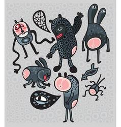 Spooky cartoons vector