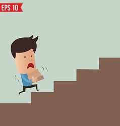 Business man lifting box - - eps10 vector