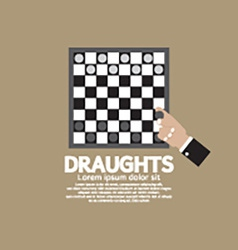 Draughts or checker board game vector