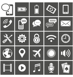 Mobile interface icons vector