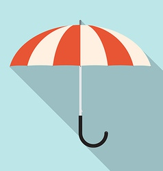 Retro flat design umbrella vector
