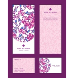 Vibrant field flowers vertical frame vector
