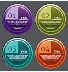 Progress icon for four steps vector