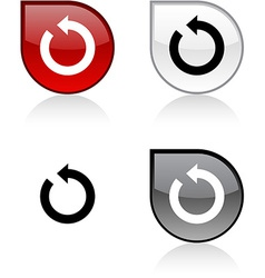 Refresh button vector