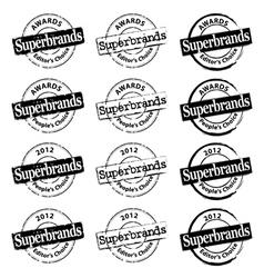 Superbrand rubber stamp vector