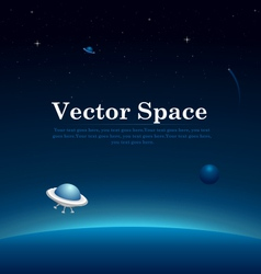 Space planets background vector