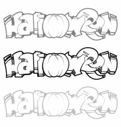 Halloween graffiti vector