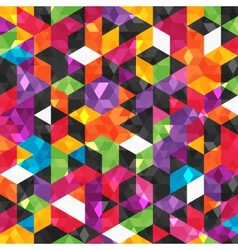 Colorful abstract pattern with geometric shapes vector