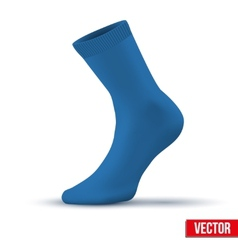 Realistic layout of blue sock a simple example vector