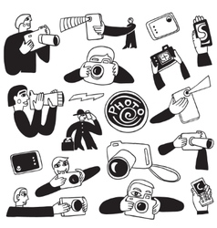 Photography doodles vector
