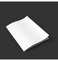 Closed white booklet with a curved leaf business vector