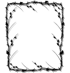 Barbed wire border vector