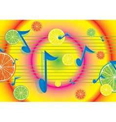 Juicy melody background vector