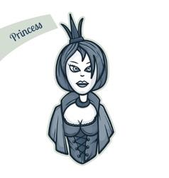 Sticker princess vector