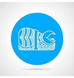 Shrimp sushi round icon vector