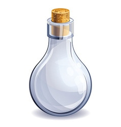 Empty glass bottle vector