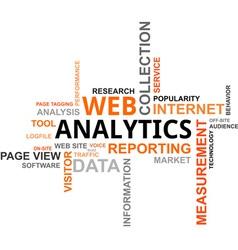 Word cloud web analytics vector